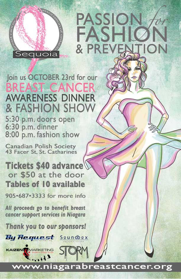 October 23 Sequoia S Annual Fashion Show In Support Of Niagara Breast Cancer Support Programs
